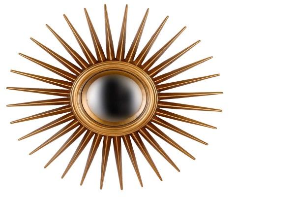 Зеркало-солнце Star Gold купить в салоне-студии мебели Барселона mnogospalen.ru много спален мебель Италии классические современные