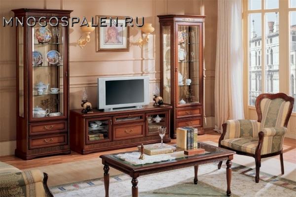 Гостиная Joconda орех MIASSMOBILI купить в салоне-студии мебели Барселона mnogospalen.ru много спален мебель Италии классические современные