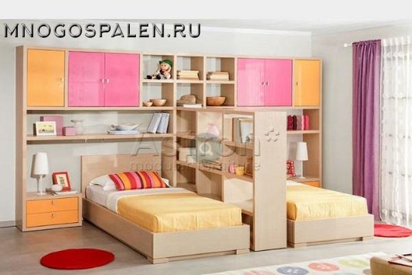 Модульная мебель для  девочек F120 Astron купить в салоне-студии мебели Барселона mnogospalen.ru много спален мебель Италии классические современные