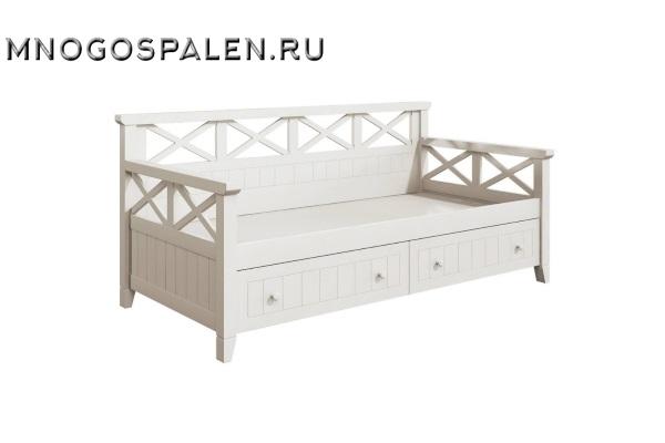 Кровать - диван с ящиками купить в салоне-студии мебели Барселона mnogospalen.ru много спален мебель Италии классические современные