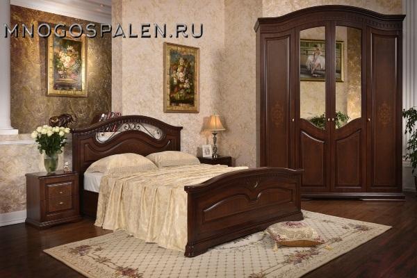 СПАЛЬНЯ КАНАДА КАРАВАДЖО купить в салоне-студии мебели Барселона mnogospalen.ru много спален мебель Италии классические современные