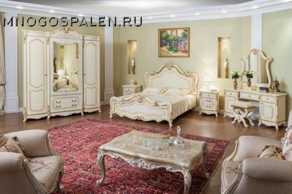 СПАЛЬНЯ МОНА ЛИЗА КРЕМ купить в салоне-студии мебели Барселона mnogospalen.ru много спален мебель Италии классические современные